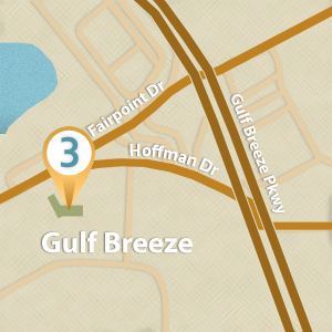 Map of Gulf Breeze Location